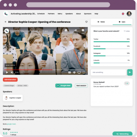 Engage Attendees with Live Questions and Polls